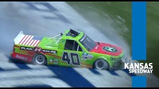 Travis Pastrana takes a spin at Kansas   NASCAR