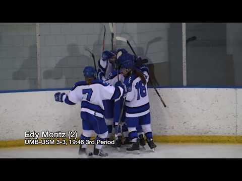 UMass Boston Women's Hockey vs University of Southern Maine (2/2/18) Highlights