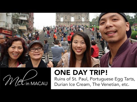 [MACAU VLOG] ONE DAY TRIP! (What to Do & Eat) ft. ShootAndChop