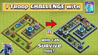 1 Troop Challenge with Clone Spell and Rage Spell | Clash of Clans