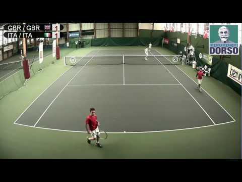 Grande-Bretagne vs Italie (double) - Open Super 12 Auray Tennis - Court 1
