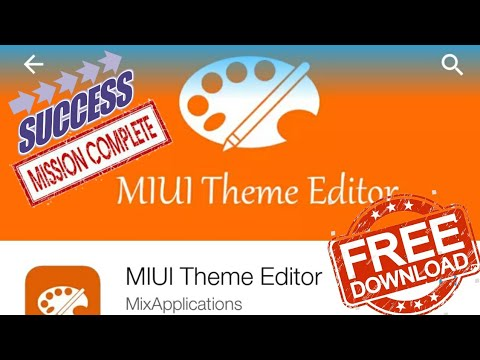 Download MIUI THEME EDITOR PRO diXiaomi