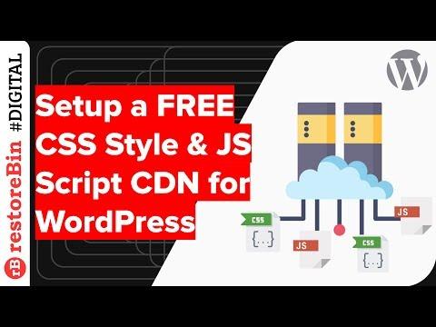 Setup a Free CDN for CSS and JavaScript files on WordPress