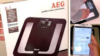 aEG PW 5653 Bluetooth Scale: Unboxing - Test with Galaxy S6 Edge