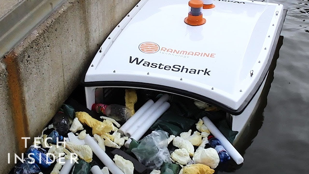 Drone Swims Through Water To Collect Trash