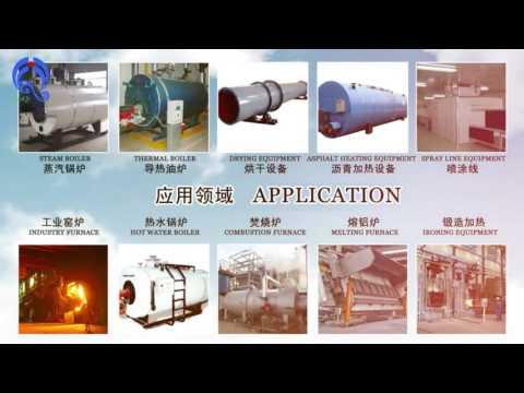300,000Kcal biomass pellet burner test / renewable energy