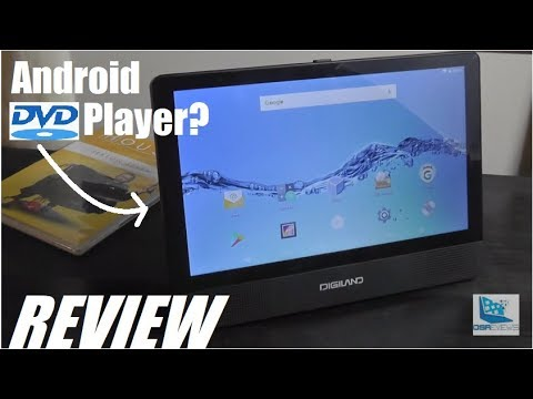 REVIEW: DigiLand Android Tablet Portable DVD Player?!