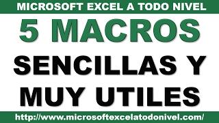 5 Macros sencillas y muy útiles en Excel