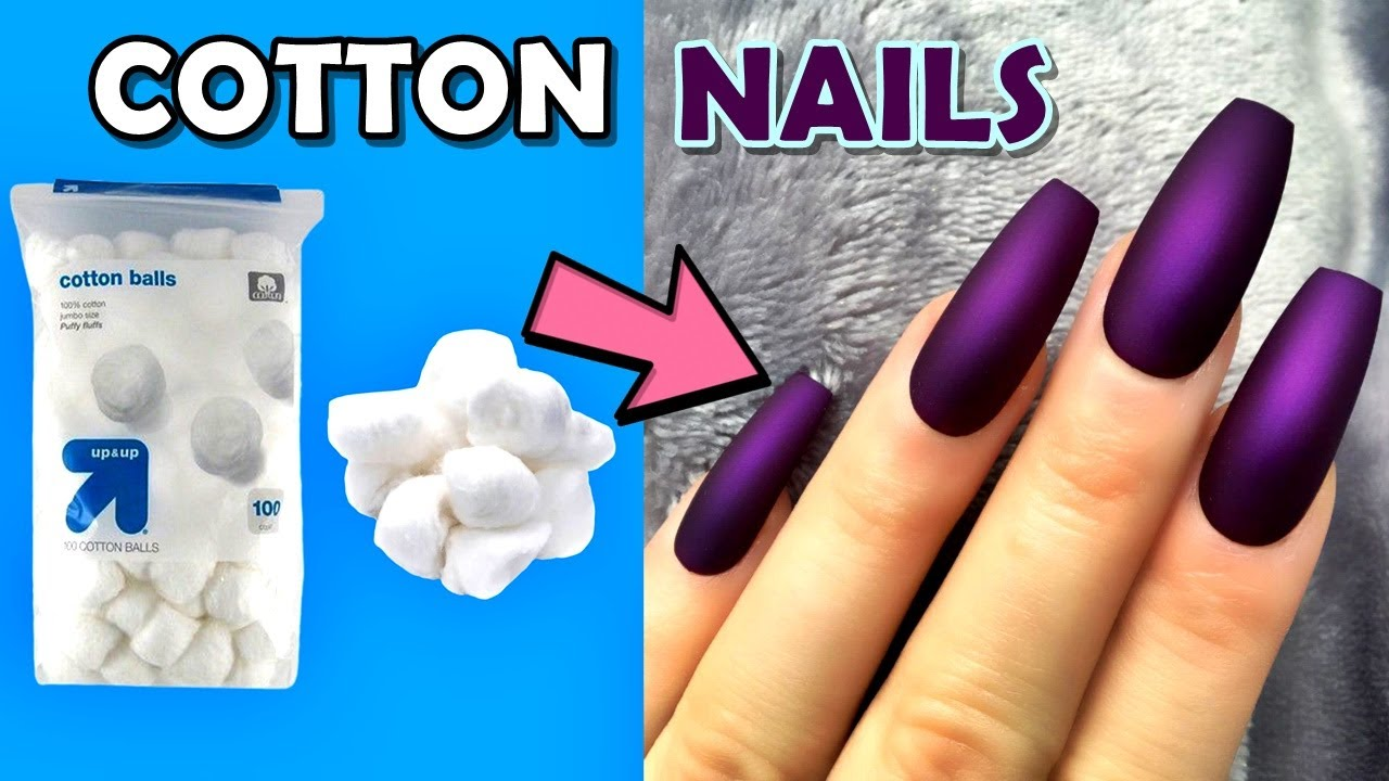 12 DIY   HOW TO MAKE FAKE NAILS FROM COTTON AT HOME   12 DIFFERENT WAYS   And  How to Remove Them