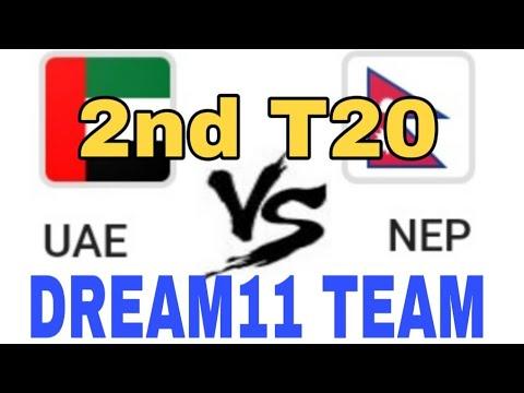 UAE vs NEP 2nd T20  Dream 11 team  Playing 11  Team News