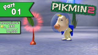 Pikmin 2 100% walkthrough (w/ commentary) - Day 1 - New Game, New Troubles!