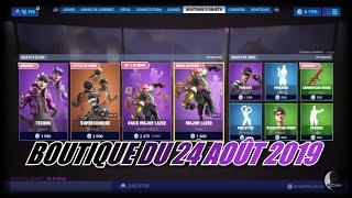 """FORTNITE : Boutique 24 août, NOUVEAU SKIN """"techno"""", Nouveau revetement """"camouflage rouge"""""""
