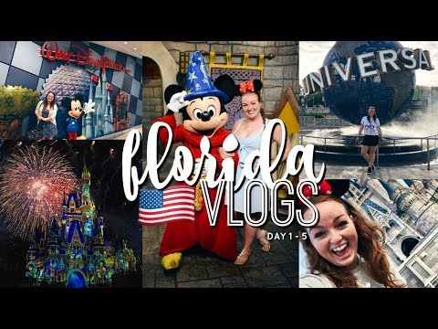 FLORIDA VLOGS! DAY 1 - 5 | DISNEY WORLD & UNIVERSAL STUDIOS! 🎢 | Brogan Tate