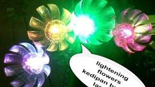 Download Video KREATIF, BOTOL PLASTIK JADI BUNGA LAMPU MP3 3GP MP4