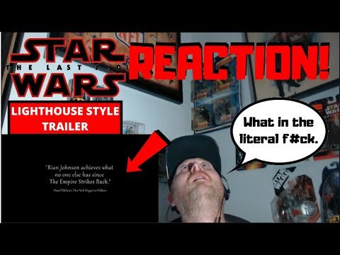 Star Wars: The Last Jedi Trailer Lighthouse Style Reaction! | Rian Johnson