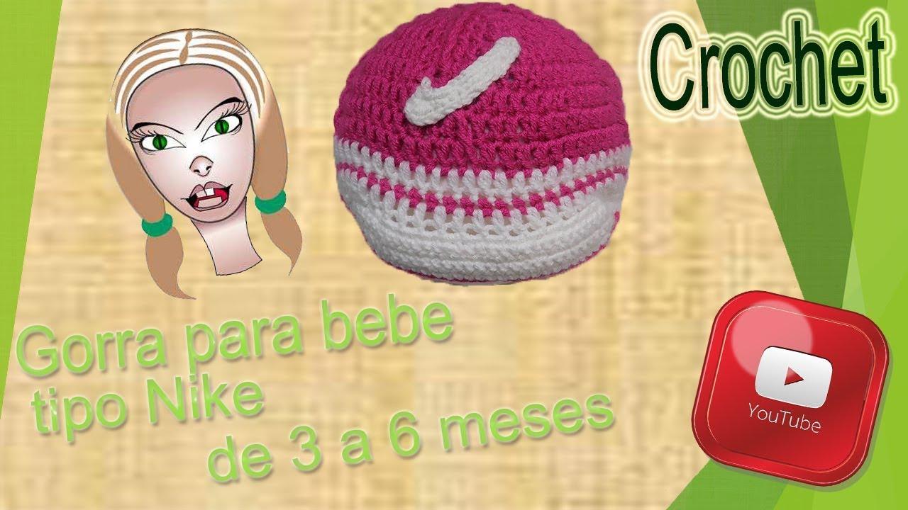 Gracias repertorio Sotavento  Tutorial: Gorra para bebe tipo Nike de crochet - YouTube