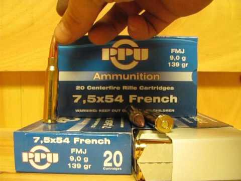 7.5x54 French Mas 139 Grain FMJ Prvi Partizan Ammo PP71 at SGAmmo.com