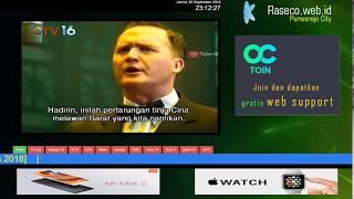 Promo Display Informasi Video TV Teks Berjalan Running Text untuk Ruang Tunggu