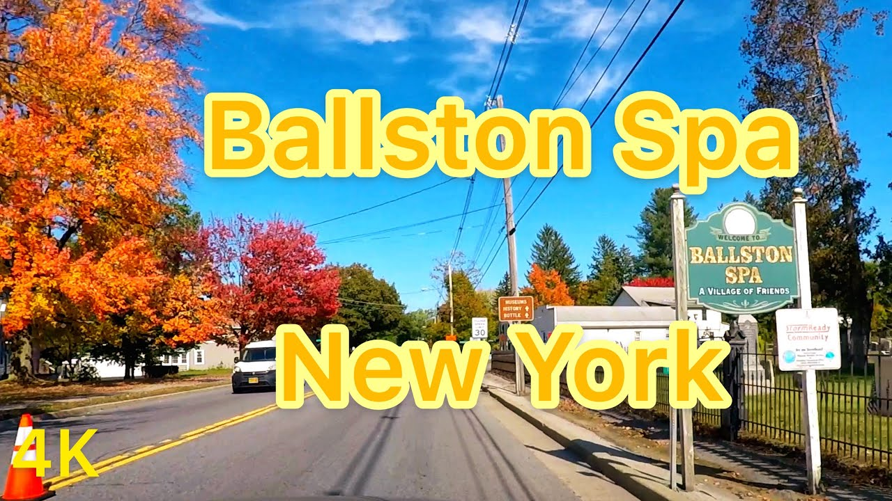 Small Towns in USA: Driving Through Ballston Spa New York in Fall (2019)