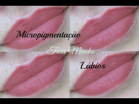 Micropigmentação de lábios-Ticia Mendes