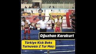 Türkiye Kick Boks Şampiyonası / 2. Tur / Oğuzhan KARAKURT / Mavi Köşe / 75 kg / Low kick / Winner