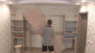 как сделать шкаф во всю стену