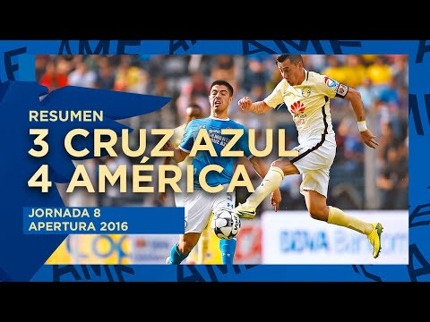 Resumen: Cruz Azul 3 - 4 América   Jornada 8   Apertura 2016