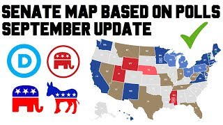 2018 Senate Polling Results Predictions Midterm Elections - Senate Map Race Analysis September 2018