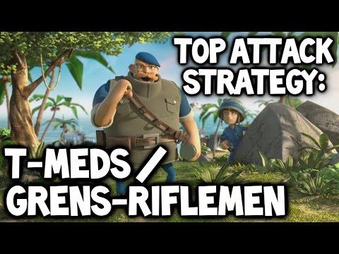 Boom Beach ★ Grenadiers Riflemen Tanks & Medics Attack Strategy ★ Best Boom Beach Attack Strategy #3