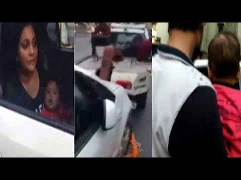 Mumbai car towing case: Did woman use baby to escape fine?
