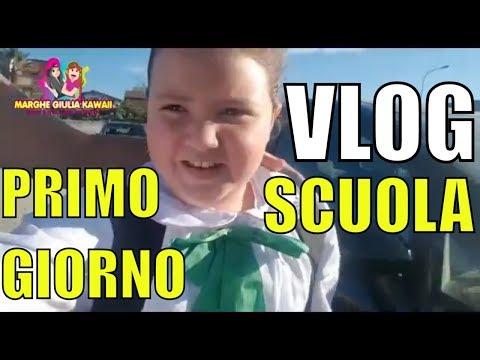 PRIMO GIORNO DI SCUOLA VLOG BACK TO SCHOOL  by Marghe Giulia Kawaii