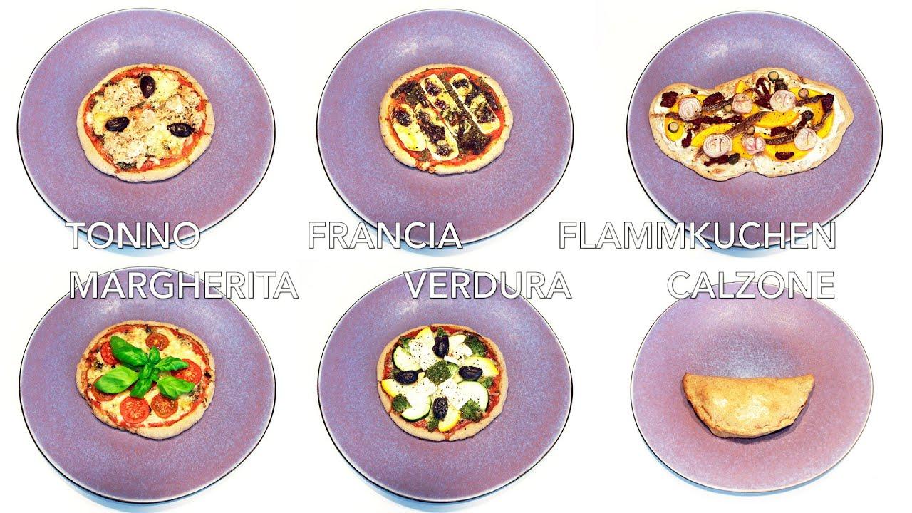 Pizza flammkuchen teig easy selber machen dinkel pizzateig vegan belag rezepte youtube - Flammkuchen belag ideen ...