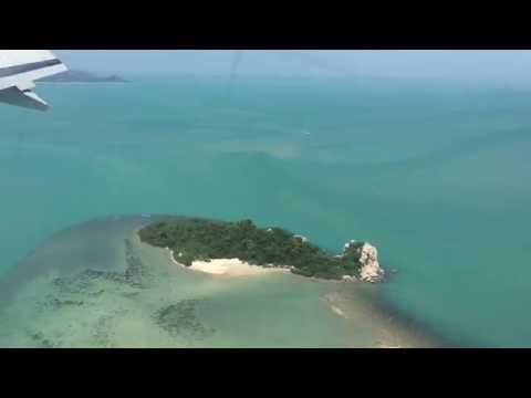 Bangkok Airways PG874, Full Approach and landing Koh Samui, Thailand