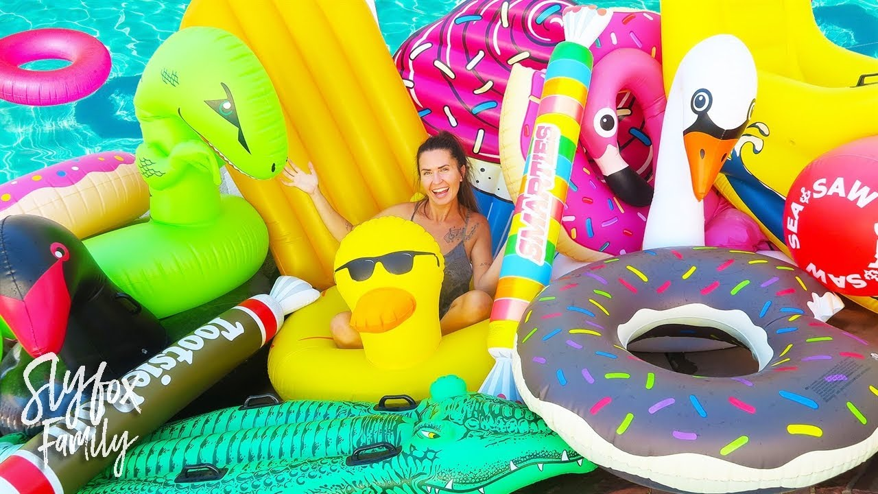 Insane Pool Floaty Haul 🍩🐬 Slyfox Family Youtube