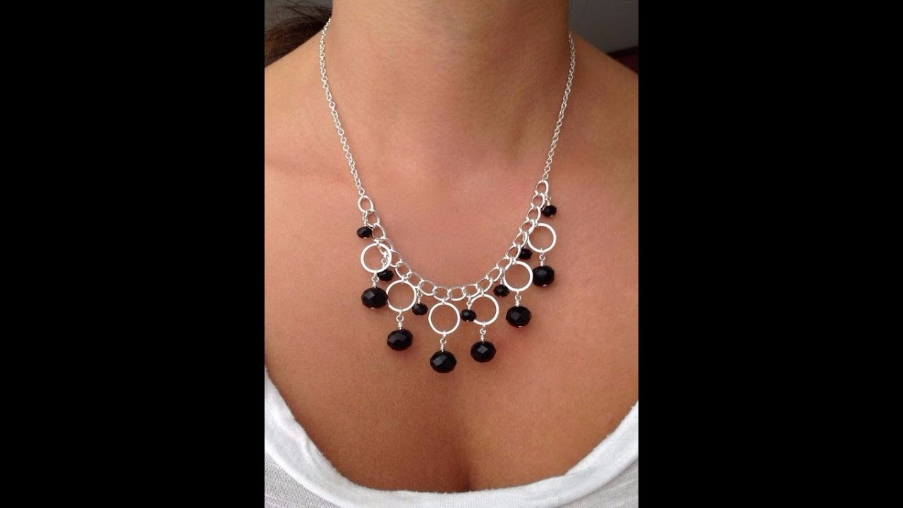 how to make silver necklace with circle components jewelry making tutorial youtube. Black Bedroom Furniture Sets. Home Design Ideas