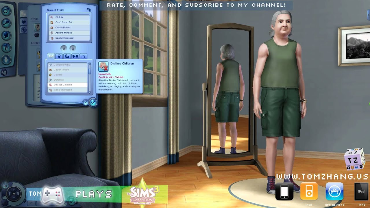the sims 3 generations cas create a sim hd - youtube