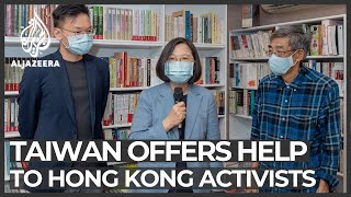 Taiwan's president expresses support for Hong Kong