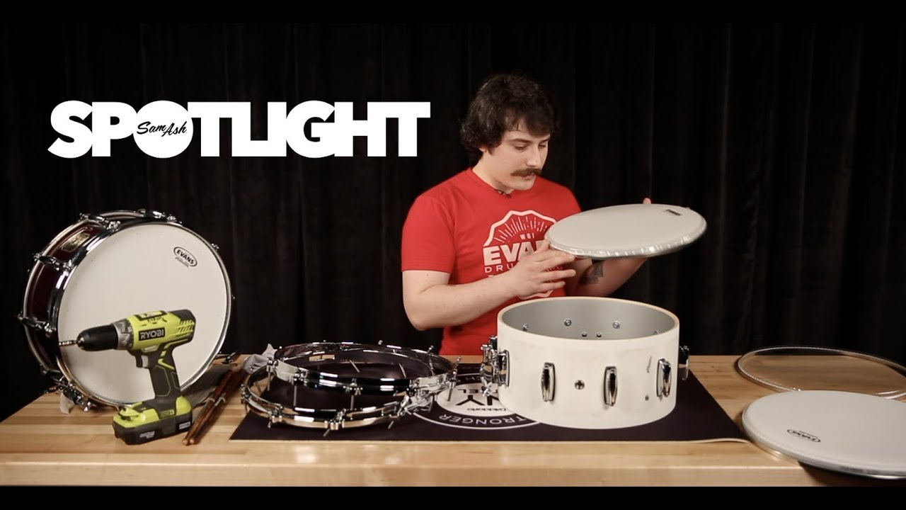 how to tune a snare drum head with d 39 addario youtube. Black Bedroom Furniture Sets. Home Design Ideas