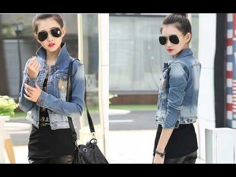 Top 100 Mẫu áo khoác jean nữ đẹp thời trang Hót nhất hiện nay