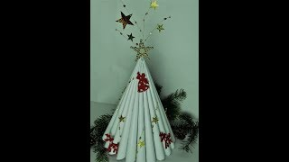 DIY Weihnachtsbäume aus Recyclingpapier /Christmas decoration made of recycled paper