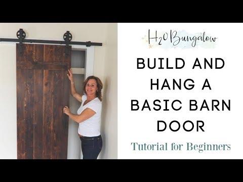Building a Barn Door: How to Build and Hang a Sliding Barn Door