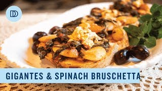 Greek Style Spinach & Bean Casserole: Gigantes me Spanaki