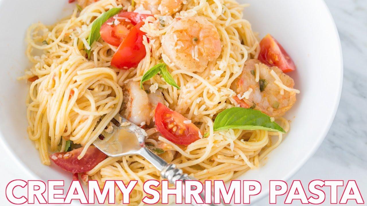 Dinner shrimp pasta in a creamy tomato sauce natasha 39 s for Natashas kitchen