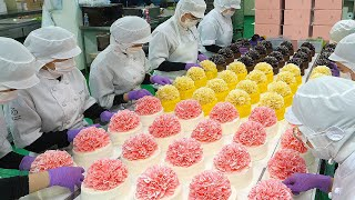 Шикарная красота! Торт Цветочная Гвоздика на Торт Фабрике / Пищевая фабрика