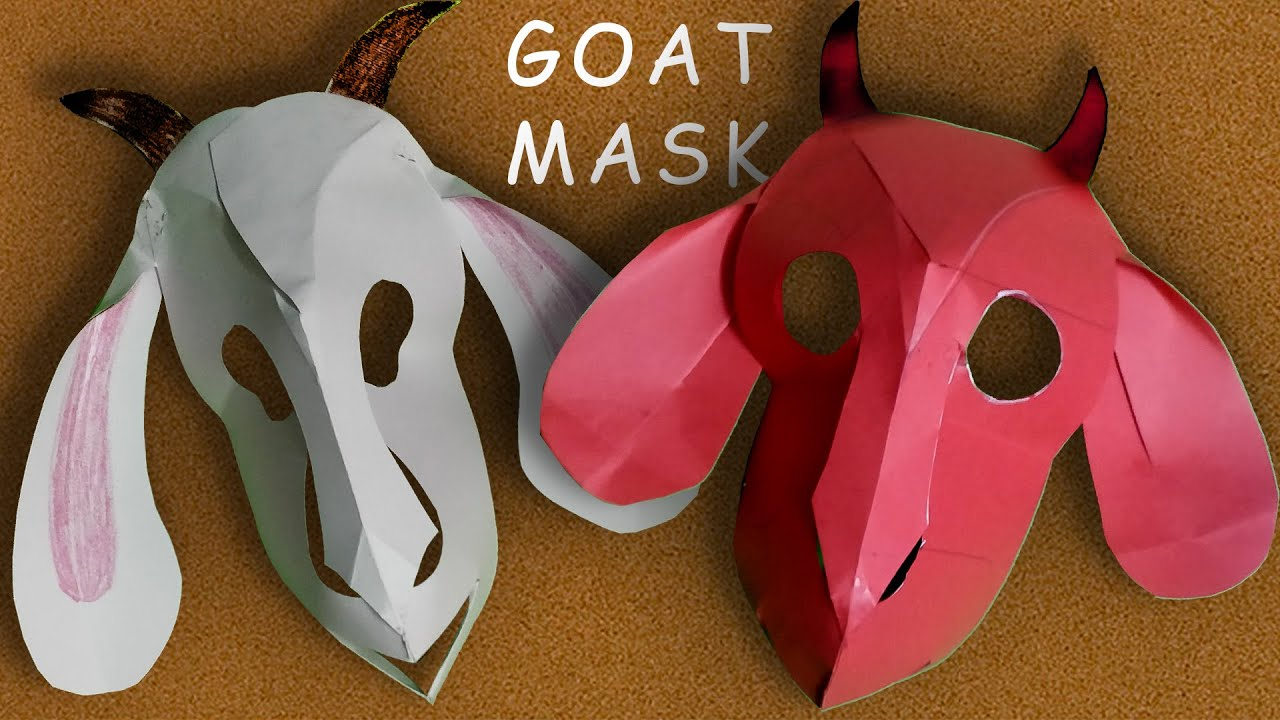 Easy Steps to Make GOAT MASK | School Play | Drama | Skit | DIY - YouTube