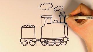 How to Draw a Cartoon Train