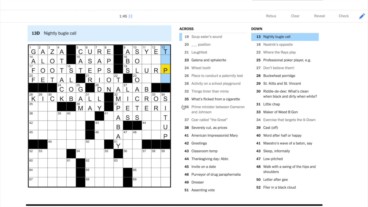 NYT Crossword Solution - TUESDAY May 5, 2020 - YouTube