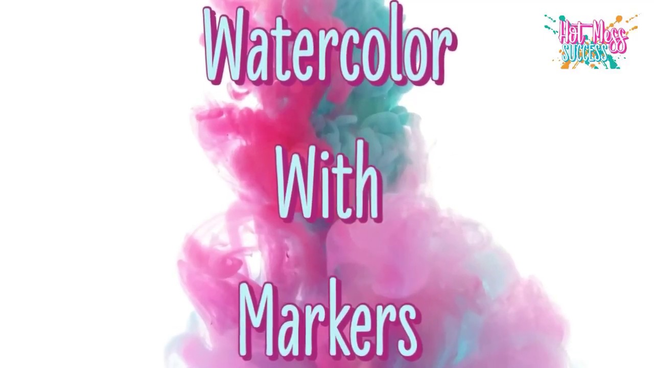 How To Watercolor With Markers