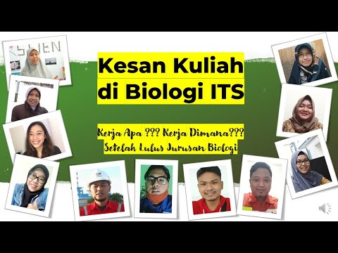 #1 Kesan Alumni Biologi ITS | Kerja Apa Dan Dimana Setelah Lulus Kuliah Biologi