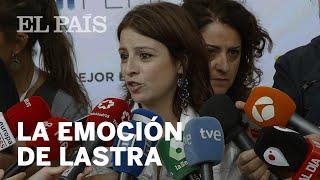 EXHUMACIÓN DE FRANCO: La emoción de LASTRA (PSOE)